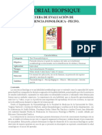 Fono 018 Prueba de Evaluacion de Conciencia Fonologica PECFO