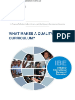 Curriculum Quality Unesco