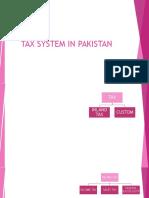 Tax System in Pakistan
