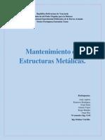 Mantenimiento de las Estructuras Metálicas.