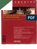 Suplementos Circulos de Reflexion Latinoamericana en Ciencias Sociales - Copia