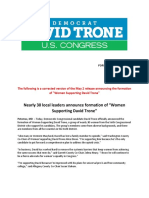 CORRECTED - Women Supporting Trone