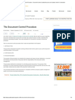 The Document Control Procedure - Document Control _ Quality Assurance and Quality Control in Construction