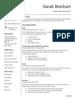 sarah reichart - resume
