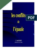 Cours Delecluse Conflit Sous Acromial 2016