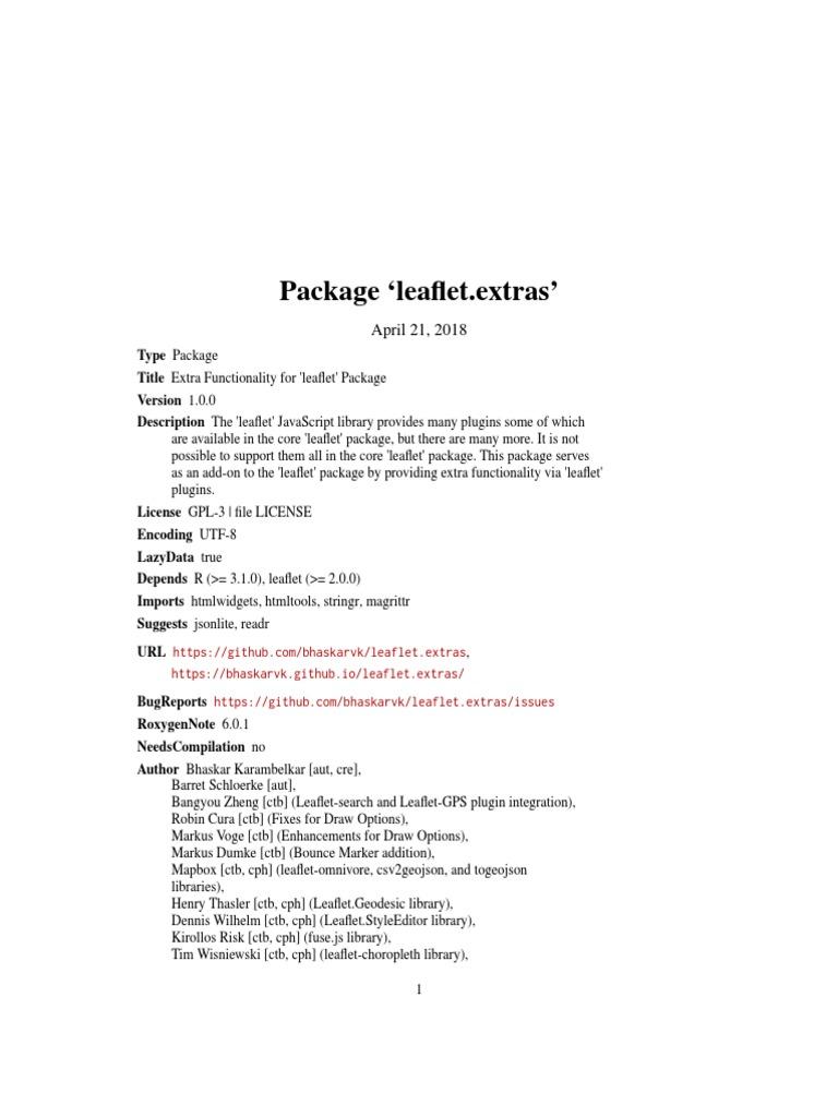 Leaflet extras | Boolean Data Type | Parameter (Computer