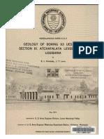 Geology of Boring 93 UES, Test Section III. Atchafalaya Levee System, Louisiana