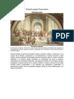 Filosofía griega Presocratica