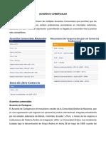 ACUERDOS COMERCIALES DE BOLIVIA