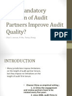 Does Mandatory Rotation of Audit Partners Improve Audit