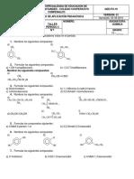 Taller Quimica - Alcoholes, Fenoles y Aldehidos. 11