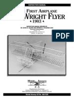 Model Airways Wright Flyer - Instruction Book