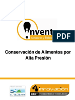 Conservación de Alimentos Por Alta Presión Hidrostatica