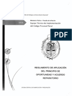 Reglamento aplicación principio de oportunidad y acuerdo reparatorio