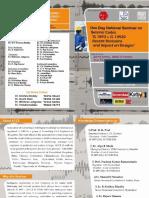Brochure Seminar Seismic Codes Is1893 is 13920