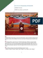 968. (1058) Welcoming Academic Speech by Ven. Dr. K Dhammassāmī  (07.05.2018)