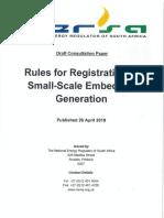 Consultation Paper-Rules for Registration of SSEG