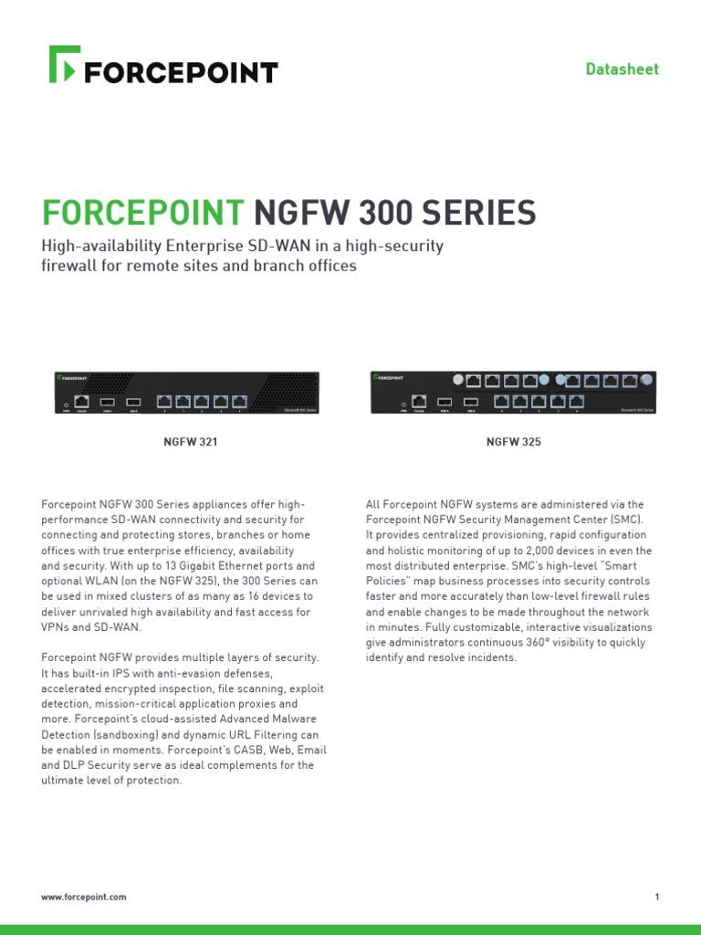 Datasheet Forcepoint Ngfw 300 Series En   Firewall (Computing