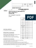 Application of Maths Higher Unit 1 2016