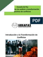Serapaz TPC El Conflicto y Herramientas Analisis Conflicto