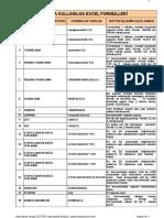 111 Excel Formulleri Ve Aciklamalari