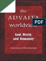 Anantanand Rambachan - The Advaita worldview_God, world, and humanity.pdf
