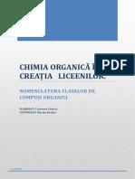 CHIMIA ORGANICĂ ÎN CREAȚIA   LICEENILOR.docx