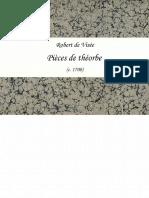 Visée, Robert de - Pièces de Théorbe (c1700)