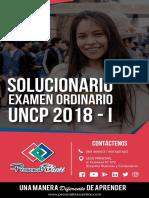 Solucionario Examen UNCP2018-I