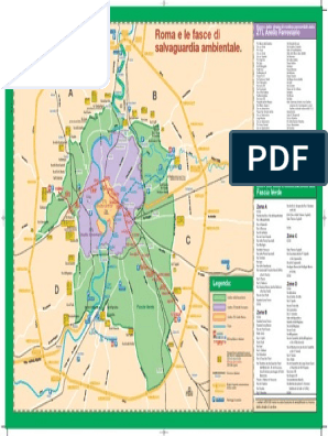 Cartina Dettagliata Fascia Verde Roma.Mappa Fascia Verde Alta Risoluzione Roma