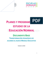 170418 Documento Base Preescolar; Primaria; Secundaria
