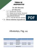 Tema 3. Dispositio