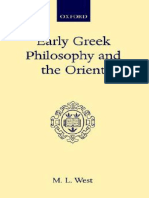 M. L. West-Early Greek Philosophy and the Orient-Oxford University Press (1971)