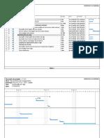 Modelo de cronograma - Atividades de construção civil