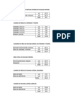 Cálculo de Areas Internas y Exxternas Salache