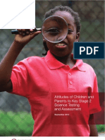 Attitudes of Children and Parents to Science Testing and Assessment