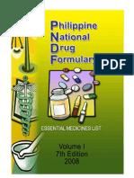 Phil National Drug Formulary Vol1ed7_2008