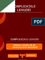 Complicaţiile Lehuziei-curs 13