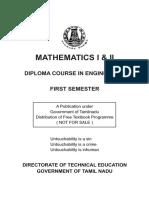 Engineering Maths I II
