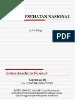 Sistem-Kesehatan-Nasional-2009 sriwangi.ppt