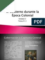 13.- El Gobierno Durante La Época Colonial