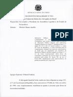 Parecer da AGU sobre auxílio-saúde indenizatório dos promotores do MPPE