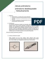 Válvula Antirretorno Hidraulica 4