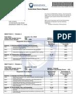 pect score report