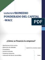 FINANZAS II_SESIÓN 042_WACC_Costo Promedio Ponderado Del Capital