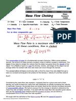 Mass Flow Choking
