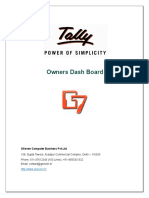 User Manual With FAQs - Owners Dash Board