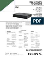 Sony Hbd-e370 e470 e570 e870 t57 Ver.1.1 Blu-ray Dvd Receiver