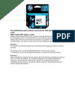 Procedimientos Para Rellenar Cartucho de Tinta Hp 662 Negro