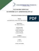 Balanza de Pagos Colombia 1